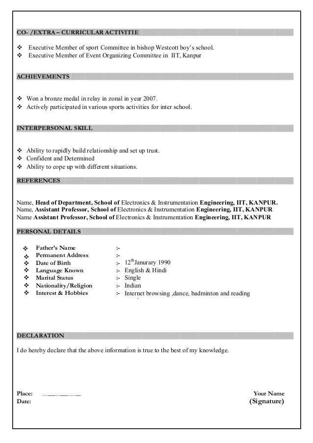 How To Create A Resume In Microsoft Word With 3 Sample Resume Format For Freshers Download