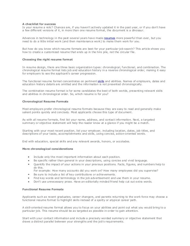 what is a functional resume job search career and - Minimfagency