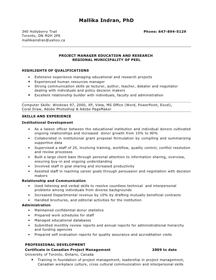 clinical project manager resumes