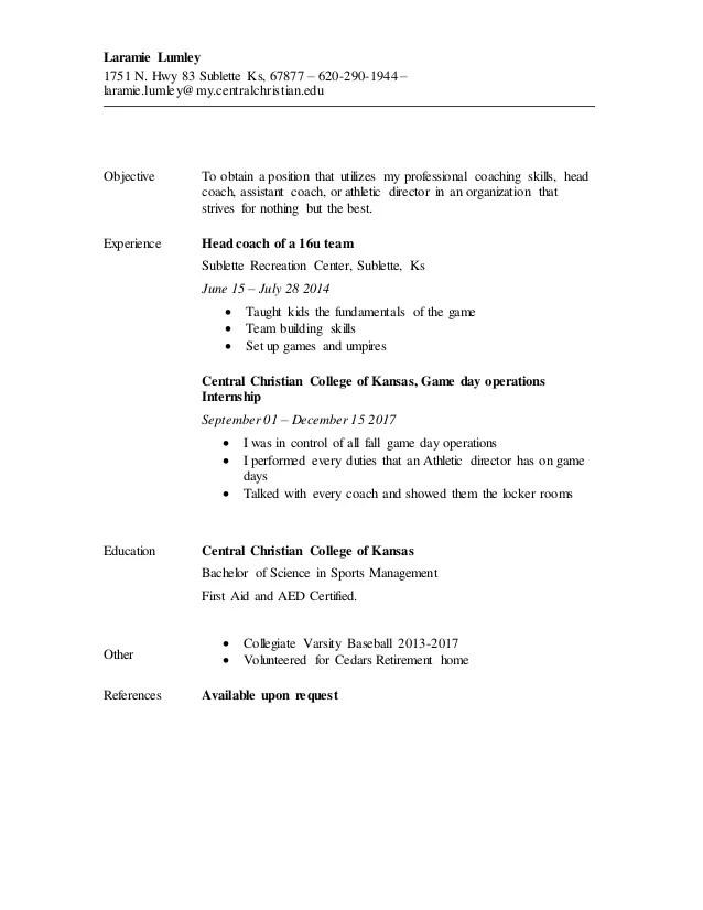 baseball resume - Onwebioinnovate - baseball general manager sample resume