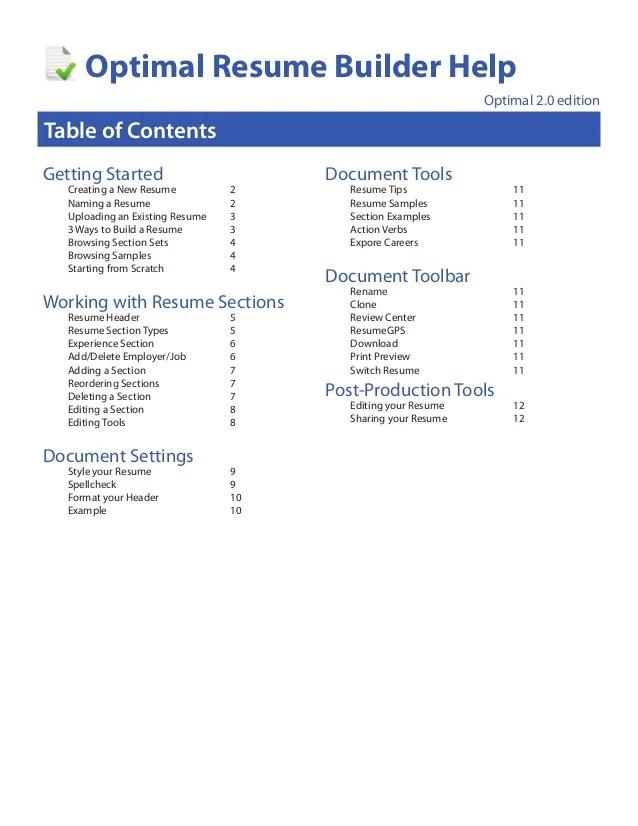 resume help resume builder