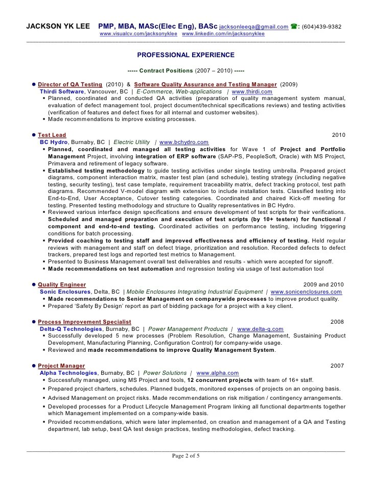 year experience resume format software testing tester resume resume analyst  manual tester sample qa resume for