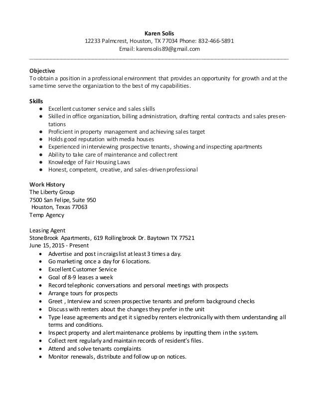 resume leasing agent - Ozilalmanoof