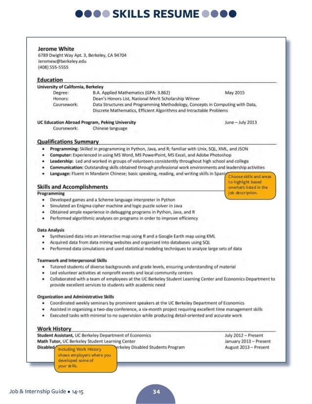 Ucsd resume builder