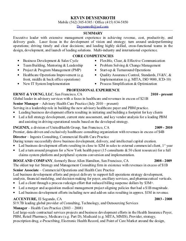 resume examples management objective