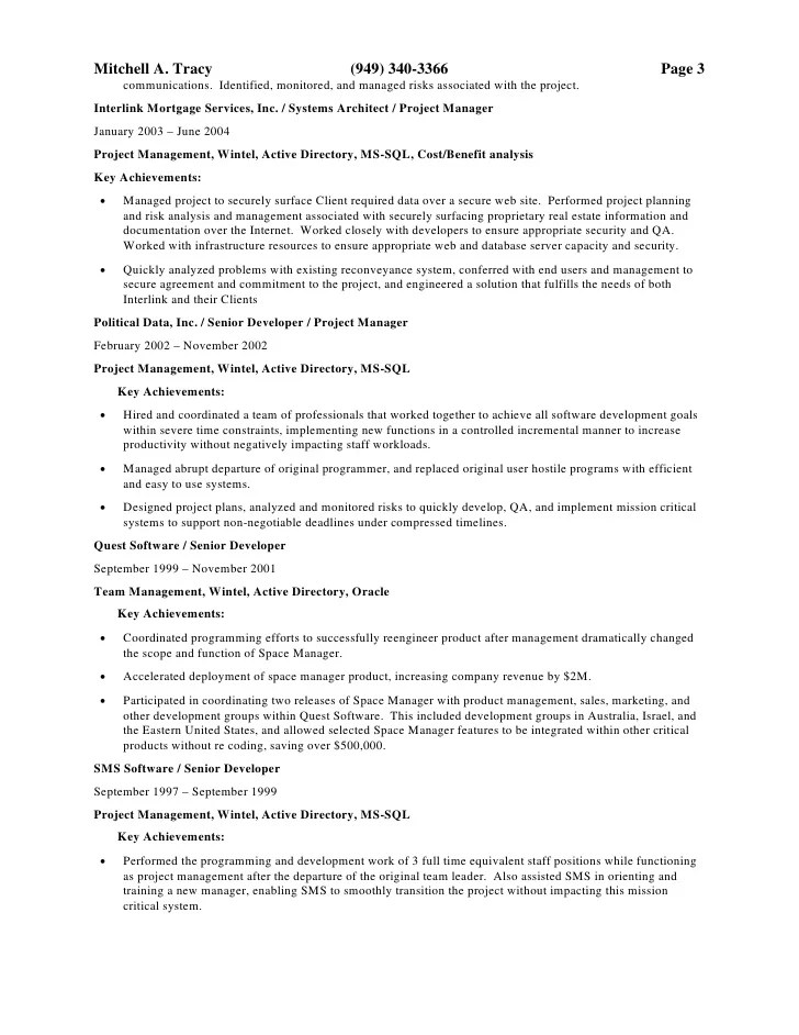 System Architect Resume Example Systems Architect Resume Sample - system architect resume