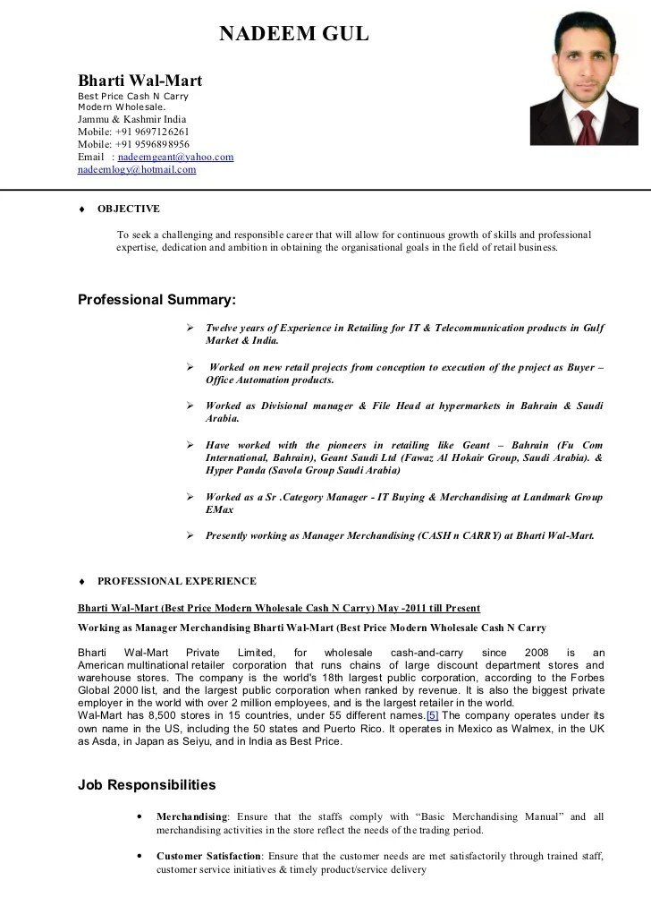 resume example for cash manager