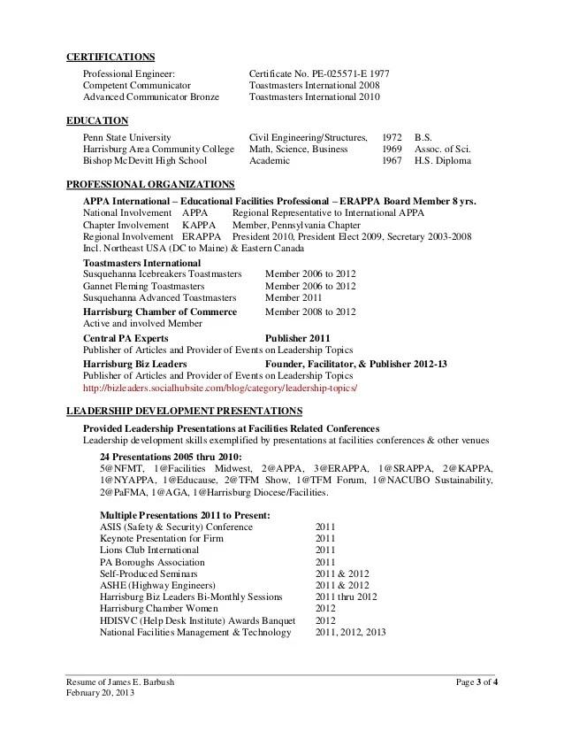 penn state resume sample