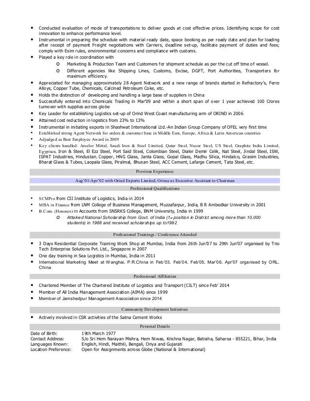 logistics professional resumes - Manqalhellenes - logistics resume