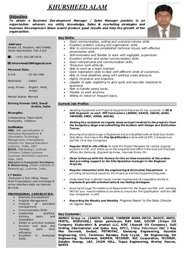 oil and gas sales resume examples