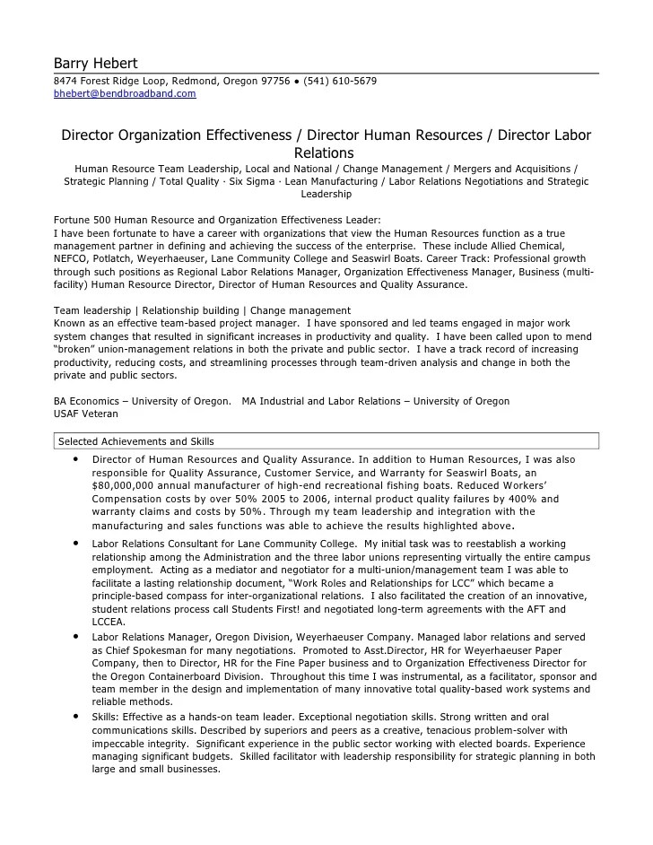 sample resume for hr business partner professional resumes