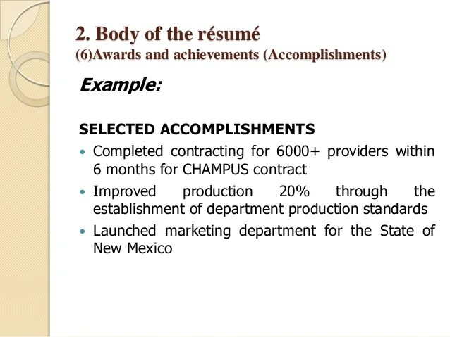examples of achievements on a resume - Josemulinohouse - resume achievements