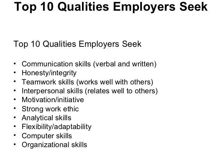 10 Qualities Of A Good Resume What Makes A Good Supervisor 10 Qualities Of A Good Resume Ppt