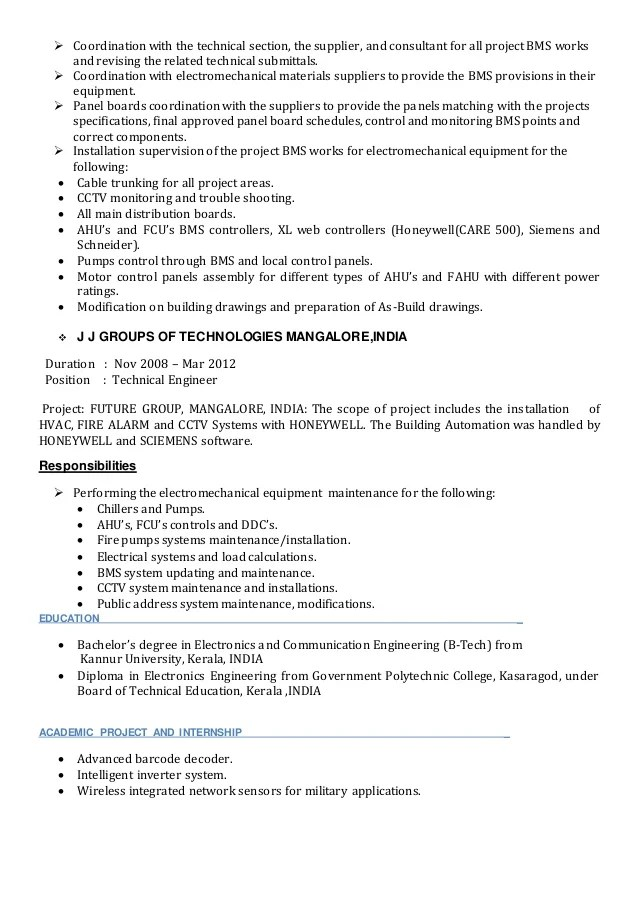 Fire Alarm System Engineer Resume - nmdnconference - Example - fire alarm technician resume