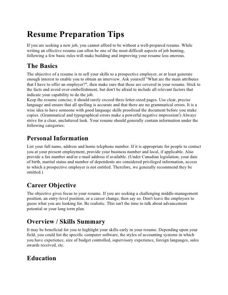 resumes preparation - Funfpandroid