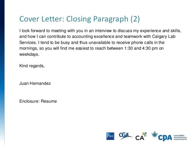 Cover Letter Closing Cover Letter Closing Examples The Balance Resume And Cover Letter Presentation