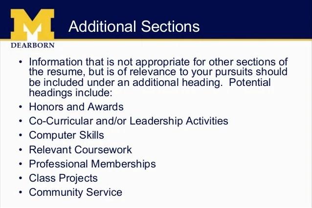 Additional Information For Resume additional information on resume