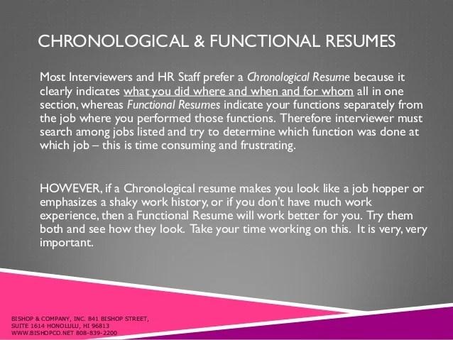 Chronological resume vs functional resume - functional resume vs chronological resume