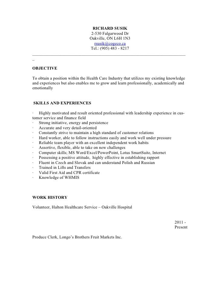psw resume sample