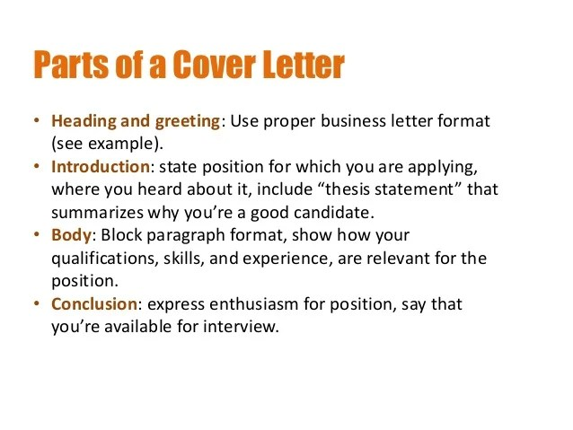 Resume And Cover Letter Writing For Internships Creating Resumes And Cover Letters