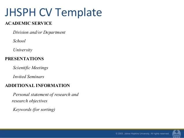 Cv Template Academic | Resume Sample For Customer Service