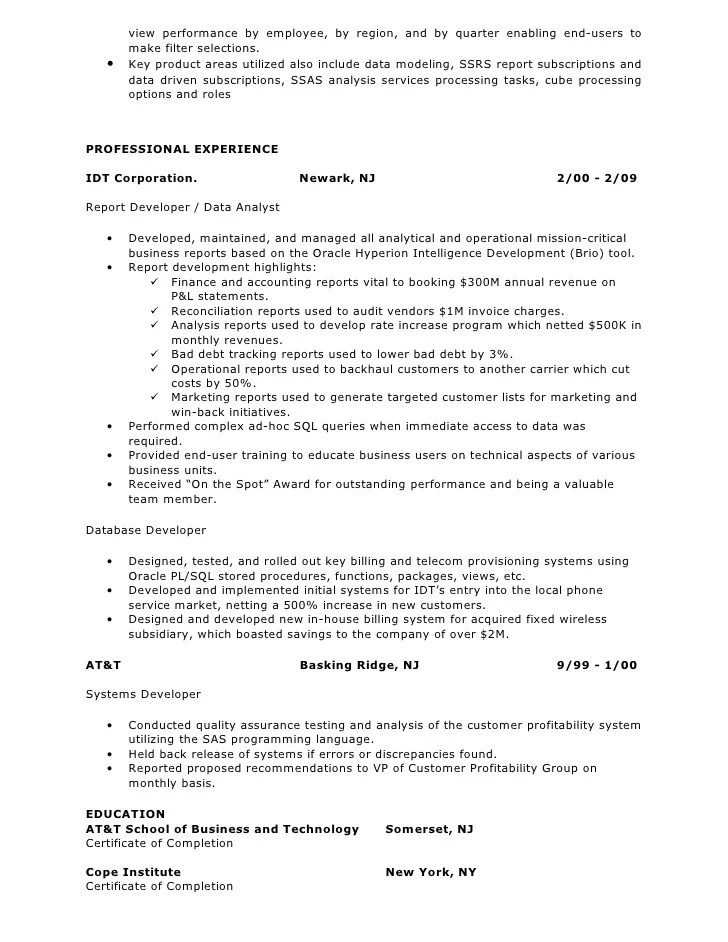 business intelligence resume - Ozilalmanoof - Business Analytics Resume
