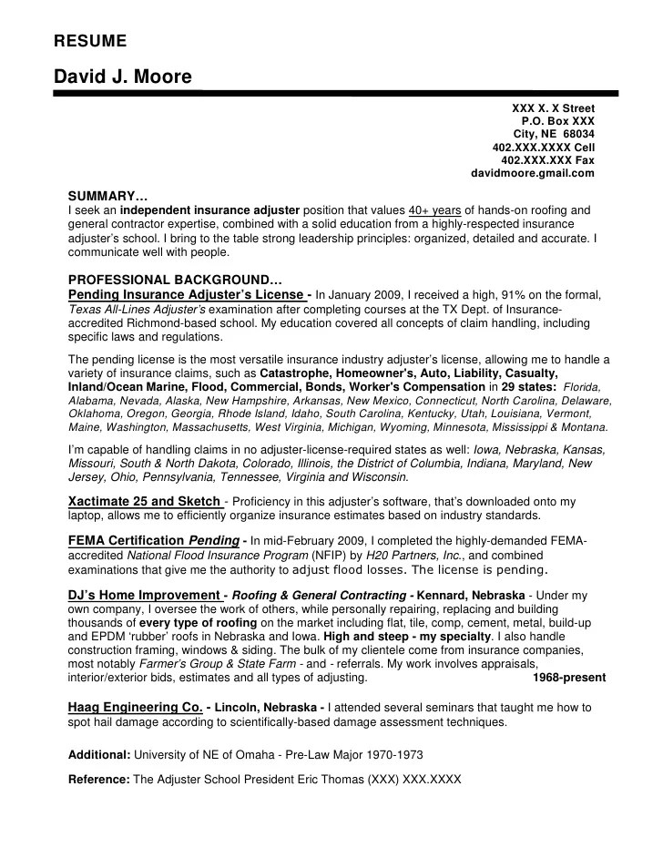 Short concise resume