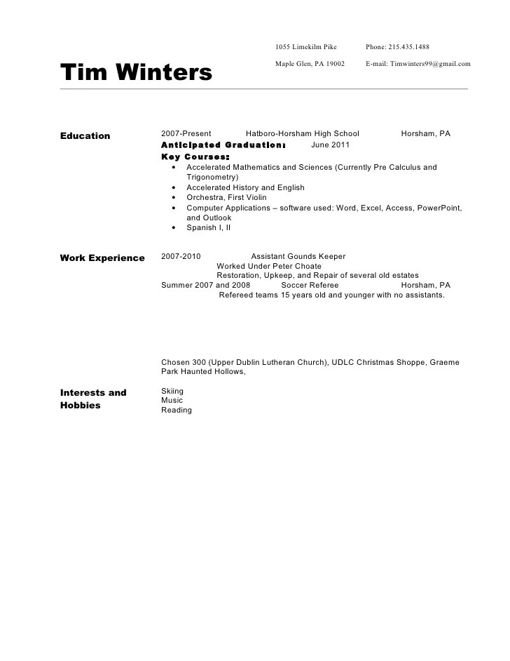 awesome expected to graduate in resume sample gallery simple