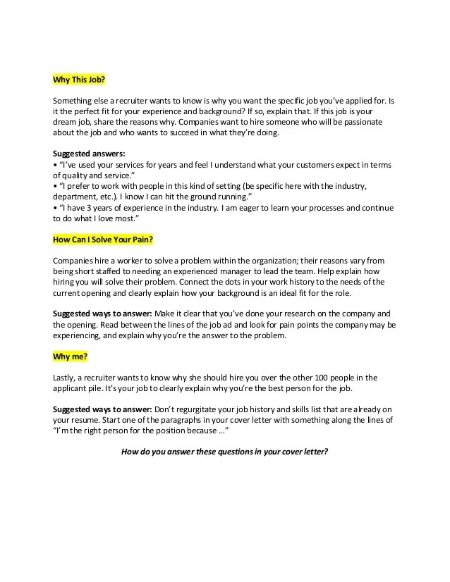 why do recruiters not make you write cover letters - Deanroutechoice