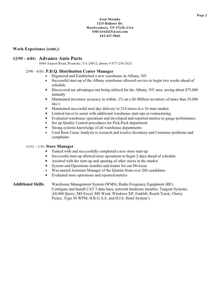 parts manager resumes - Minimfagency