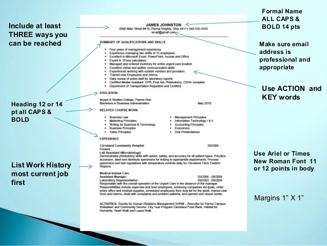 resume format font size - Onwebioinnovate - margins for resume