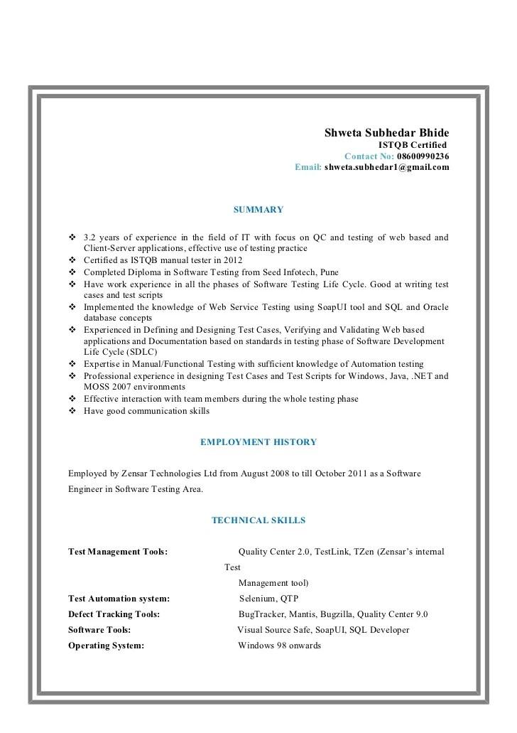 etl tester resume example