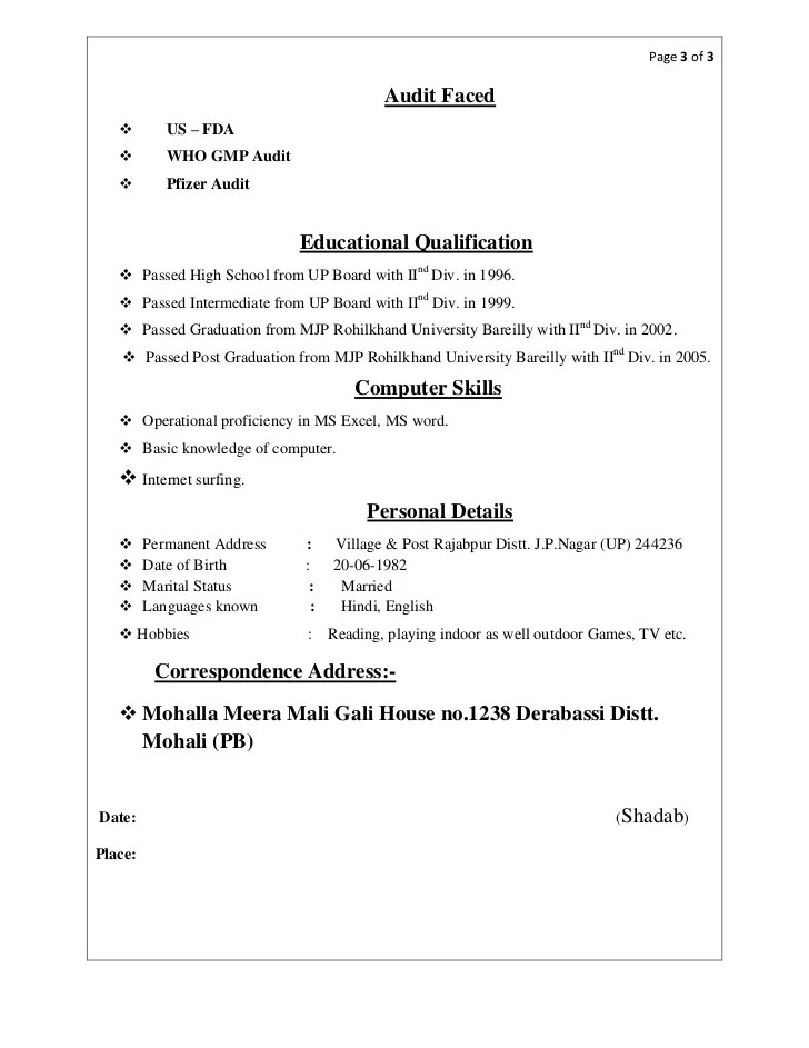 academic qualification in resume - Funfpandroid