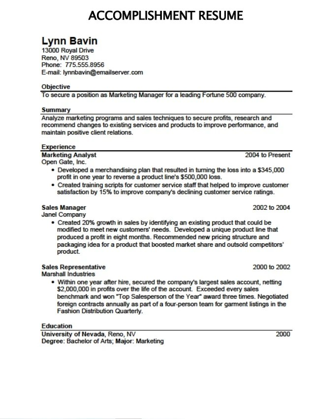 what to put under accomplishments on a resume - Romeolandinez - achievements resume