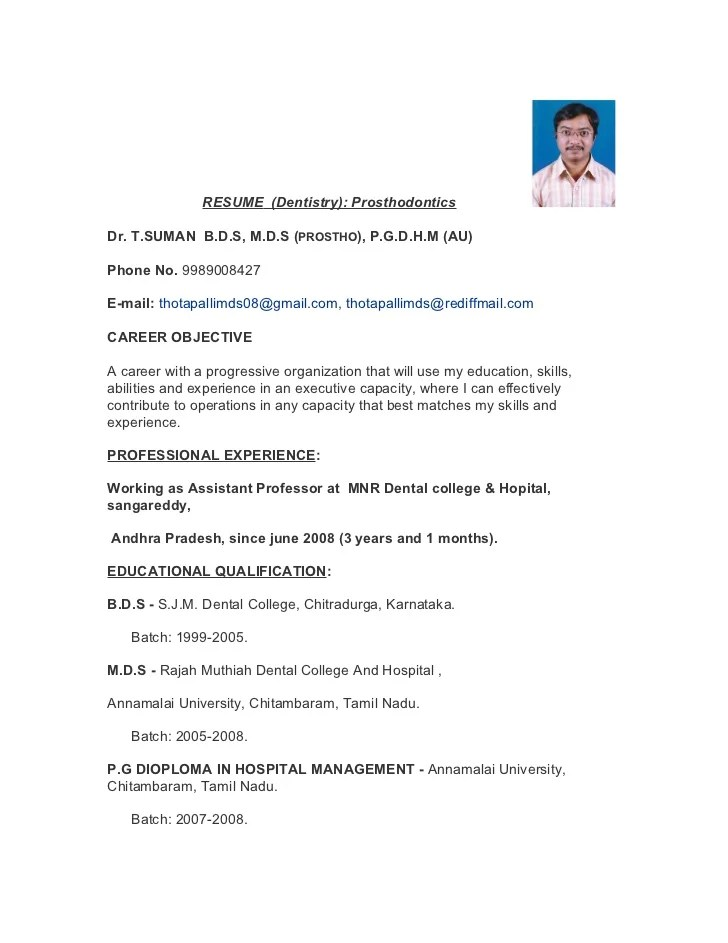 sample resume bds doctor resume ixiplay free resume samples