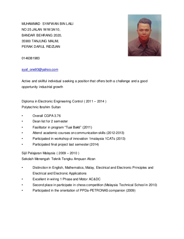 contoh resume english yang terbaik professional resumes example