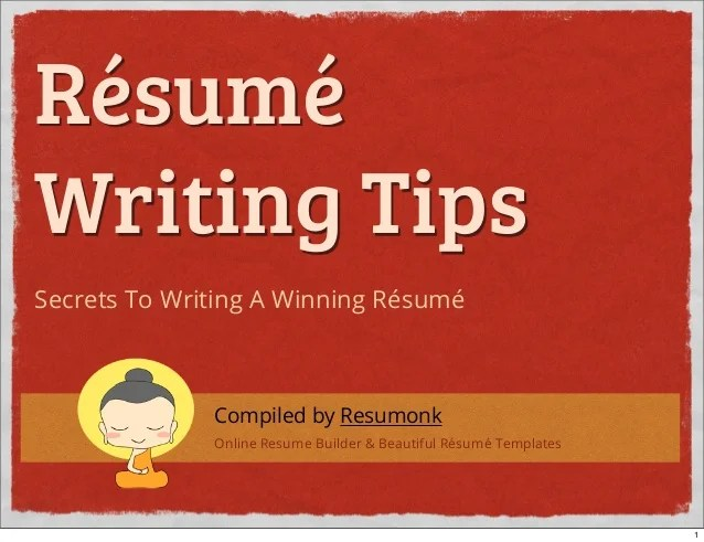 resume writing hints tips - Resume Hints And Tips