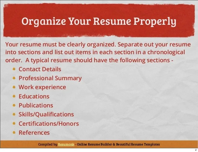 tips to writing a resumes - Onwebioinnovate - Building A Resume Tips