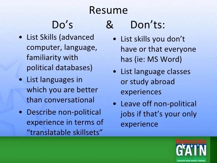 resume language conversational