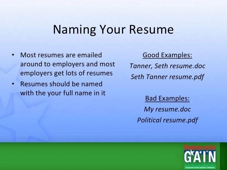 naming a resume - Boatjeremyeaton