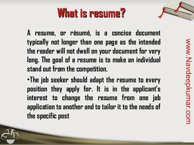 what is resumes - Onwebioinnovate