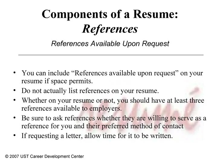 putting references on resumes - Physicminimalistics