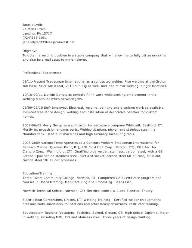 resume for welder - Funfpandroid - resume for welders