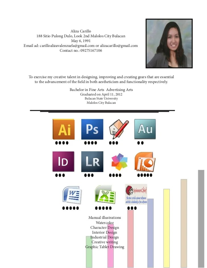 Resume Writing Tips For College Graduates Federal Resume Writer Certified Federal Resume Writing Resume Of Aliza Carillo A Fresh College Graduate