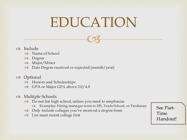 Resume Template No College Degree – Degree Templates