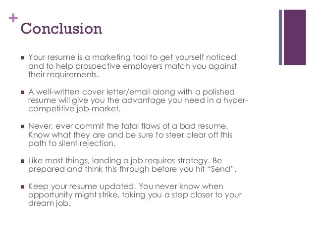 conclusion of resumes - Holaklonec