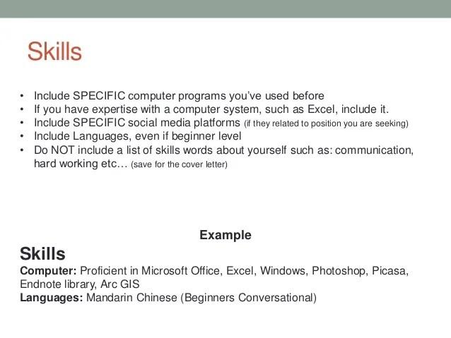 list of language skills for resume