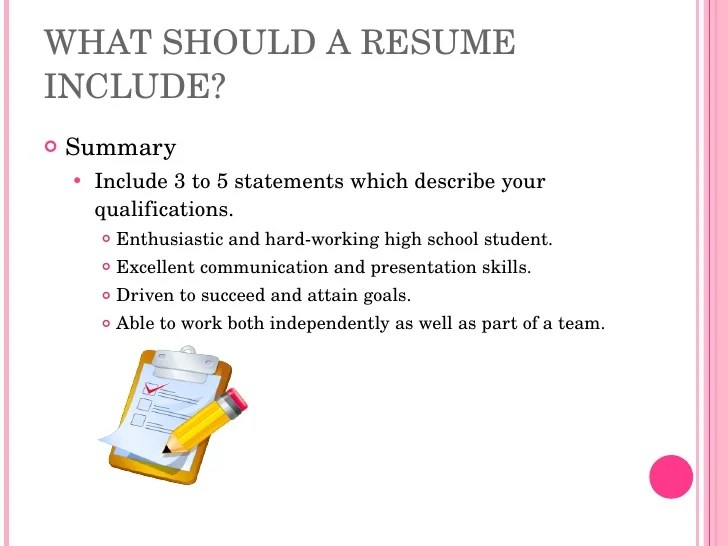 resume writing for high school students - Yelommyphonecompany