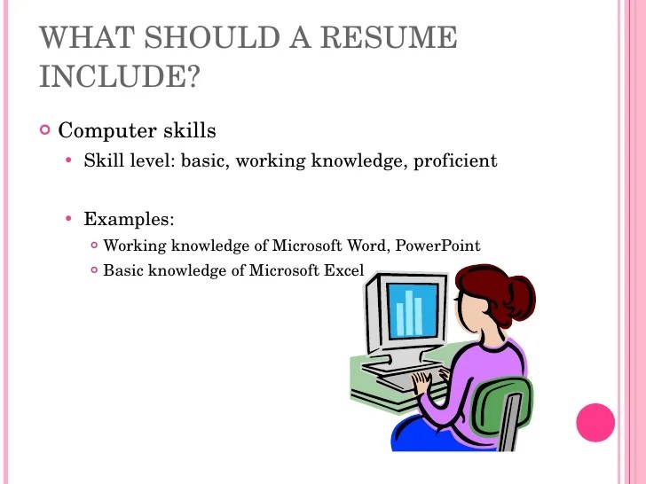 computer typing skills resume
