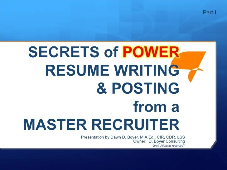 Resume Writing Services Northern Virginia